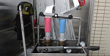 消防用ホースの耐圧性能点検
