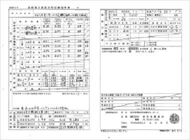 放水等試験結果書および済証の発行、試験終了報告(消防検査終了後)